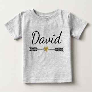 Custom Name with Arrow and heart Baby T-Shirt