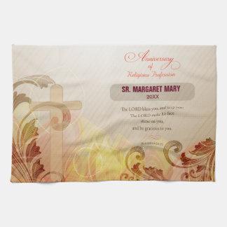 Custom Name & Year Nun, 60th Anniversary Religious Tea Towel