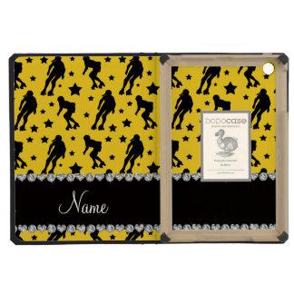 Custom name yellow roller derby stars iPad mini covers