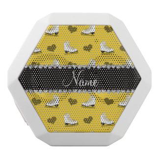 Custom name yellow skates and hearts