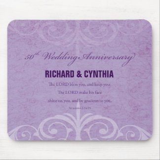 Custom Names, 50th Wedding Anniversary to Couple Mouse Pad