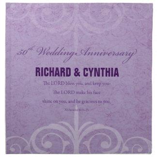 Custom Names, 50th Wedding Anniversary to Couple Napkin