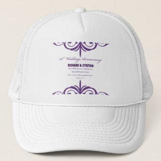 Custom Names, 50th Wedding Anniversary to Couple Trucker Hat