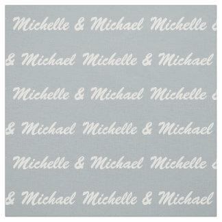Custom Names & Color Couple's fabric