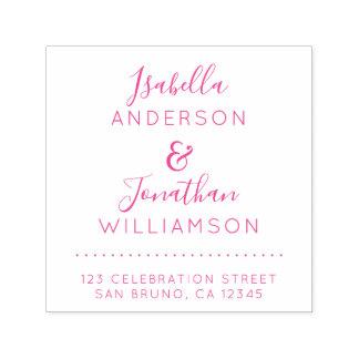 Custom Names Elegant Script Wedding Return Address Self-inking Stamp