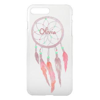 Custom Native American Dream Catcher Pink Feather iPhone 8 Plus/7 Plus Case