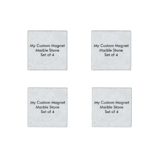 Custom Natural Stone Marble Magnets - Set of 4 Stone Magnet
