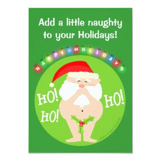 Custom Naughty Santa Christmas Party Invitation