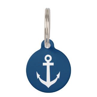 Custom nautical anchor navy pet name collar tags pet nametag