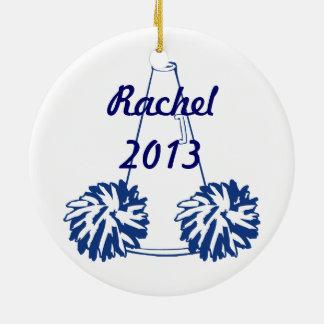 Custom Navy Blue Cheerleading Ornament