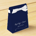 Custom Navy Blue White Wedding Favour Boxes Tent