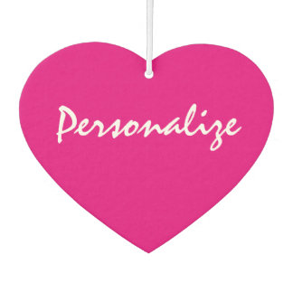 Custom neon pink heart shape car air freshener