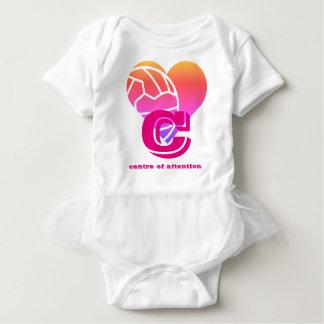 Custom Netball Player Position Heart Print Baby Bodysuit