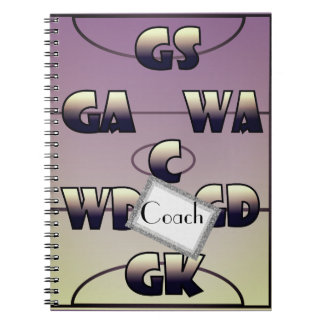 Custom Netball Player Positions Personalised Spiral Notebook