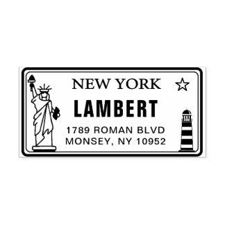 Custom New York License Plate Return Address Stamp