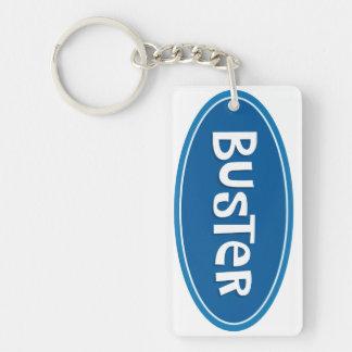 Custom nickname Buster Double-Sided Rectangular Acrylic Key Ring