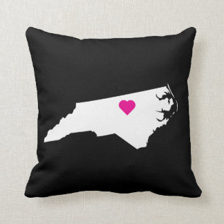Custom North Carolina State Love Reversible Pillow