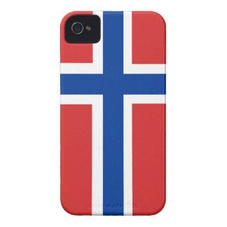 Custom Norwegian Flag (Norske Flagg) iPhone 4 Case-Mate Case