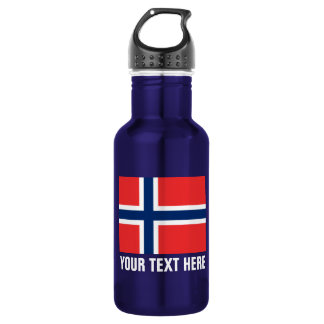 Custom Norwegian flag water bottles for Norway 532 Ml Water Bottle