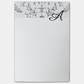 Custom Note Pads Initial Damask 4 x 6