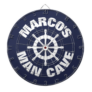 Custom novelty design nautical man cave dartboard