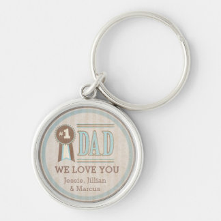 Custom Number One Dad Father s Day Keychain