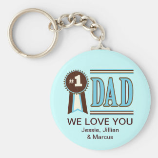 Custom Number One Dad s Father s Day Keychain