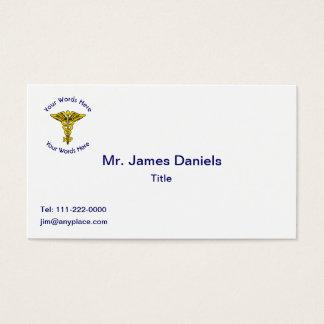 Custom Nurse Practitioner Caduceus Business Card