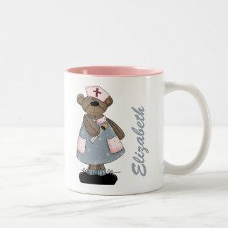 Custom Nurse's Name Teddy Bear Design Gift Mugs