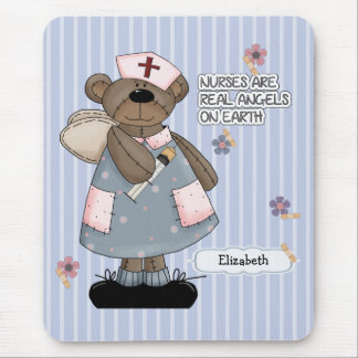 Custom Nurse's Name Teddy Bear Design Mousepad