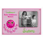 Custom Octopus Big Sister Child's Name