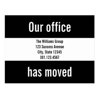 Custom Office Moving Announcement Postcard