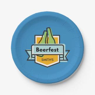 Custom Oktoberfest Beerfest Festival Paper Plate