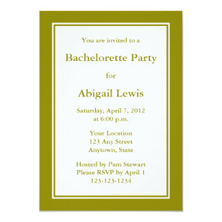 Custom Olive Green Invitation