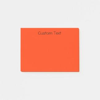 Custom Orange/Red Post-it Notes