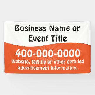 Custom Orange White Business Advertising