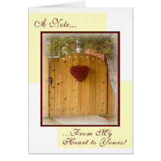 Custom Order: From My Heart to Yours Card