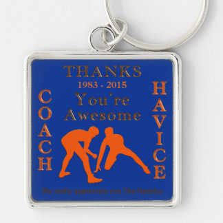 Custom Order Personalized Wrestling Coach Gifts Key Ring