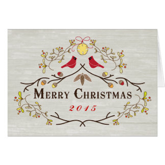 Custom Order Red Cardinals & Branches Christmas 15 Card