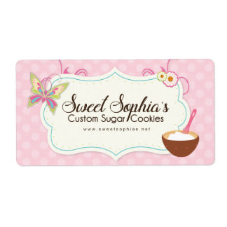 CUSTOM ORDER - Whimsical Bakery Packaging Labels