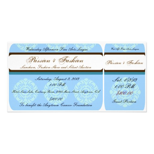 Custom Organization or Business Event Tickets Photo Card Template