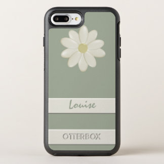 Custom OtterBox iPhone 7 Plus Daisy Flower Stripe OtterBox Symmetry iPhone 7 Plus Case