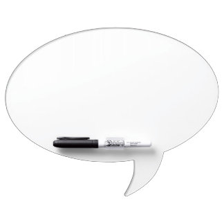 Custom Oval Speech Bubble Dry Erase Board
