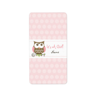 Custom Owl baby shower candy wrapper Label