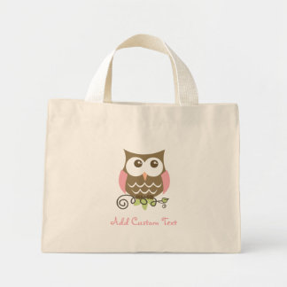 Custom Owl Small Tote Bags