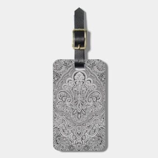 Custom Paisley Art Luggage Tag
