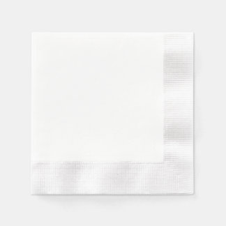Custom Paper Napkin - Coined White