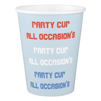 custom party cup all occasion's