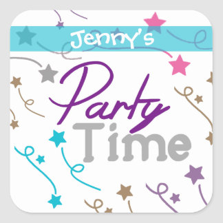Custom Party Time Stickers