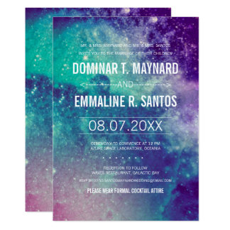 Custom Pastel Galaxy Wedding Invites